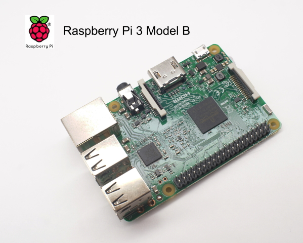 Raspberry Pi 3 Model B(RSコンポーネンツ製)