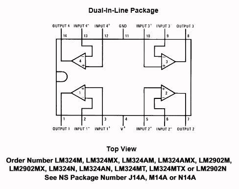 4回路 汎用オペアンプ ST LM324 [SLCN0953] - 108円 通販 通信販売